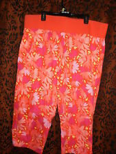 New Additions, woman's cute pink floral, comfortable short pants, size XL