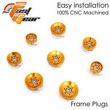 Gold Billet CNC Frame Plugs Set 8pcs For Ducati Diavel 14-17 14 15 16 17