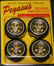 1/25 Pegasus Sovereign American Style 1960's 5 Spoke Wheels & Tires Model Car