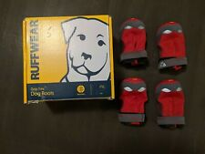 Ruffwear Grip Trex Dog Paw Breathable Boots 2 in. 51 mm Set of 4 RED