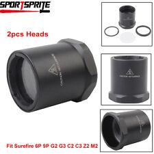 2pcs Tactical replacement Head bezel for SureFire 6P 9P G2 G3 SolarForce L2 A