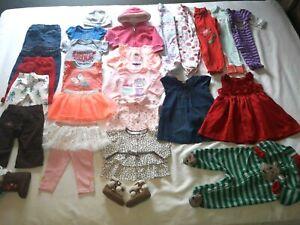Baby Girls size 6-9M jeans shirt sleeper dress legging jacket boots 26 piece lot