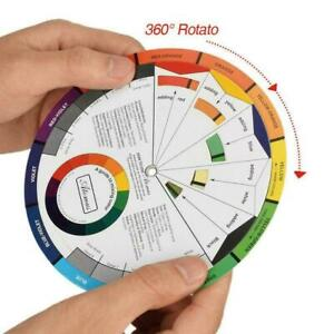 1pcs 14cm-Portable Color Wheel Mixing Guide For Tattoo Hobby Paint Makeup S N9G8