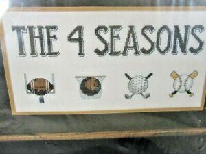 Janlynn Counted Cross Stitch Kit The 4 Seasons Sports Ball Games 1988 14 x 7