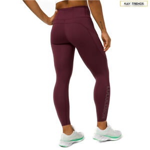 """Lululemon Women's Fast and Free Tight 24"""" Logo -Cassis LW5DAGS"""