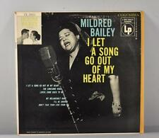 "JAZZ 10"" LP MILDRED BAILEY I LET A SONG GO OUT OF MY HEART COLUMBIA RECORDS"