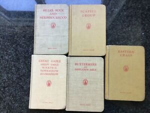 5 x Books by Fell & Rock Climbing Club Lake District W.Heaton 2nd Series 1950's