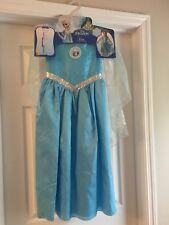 Disney Frozen Elsa Costume Dress Sky Blue Size 6-8 NWT