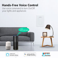 Smart Wifi Wall Switch connects with Alexa & Google (1 Gang)