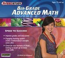 Speedstudy 8th Grade Advanced Math   Learning math becomes fun  Brand New Sealed
