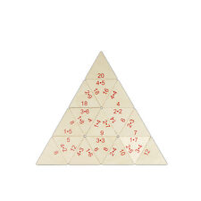 Small Mathematical Pyramid Puzzle • Educational Aid • Ecological Wood PILCH Toy