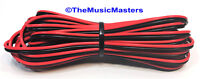 18 Gauge 15' ft SPEAKER WIRE Red Black Cable Car Audio Home Stereo 12V DC Power