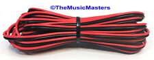 22 Gauge 30' ft SPEAKER WIRE Red Black Cable Car Audio Home Stereo 12V DC Power