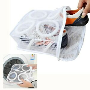 Sneaker Trainer Sports Shoe Washing Bag Boots Laundry Protect Zipper Net Hanging