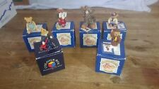 6 BOXED PETER FAGAN  COLOUR BOX MINIATURES TEDDY BEARS