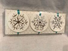 Nib Set of 12 Kate Spade Snowflake Gift Tags, 4 Each of 3 Designs, Ribbons Ties