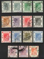 Hong Kong 1938-52 Fifteen Used Stamps   (7309)
