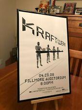 """BIG 11X17 FRAMED KRAFTWERK """"LIVE IN DENVER 2008"""" CONCERT TOUR LP ALBUM CD POSTER"""
