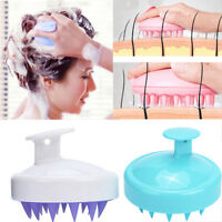 Silicone Shampoo Scalp Shower Body Washing Hair Massage Massager Brush Comb ER