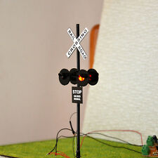 6 pcs O Scale Railroad Crossing Signals 4 heads LED made + Circuit board flasher