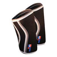 1 PAIR 7mm Neoprene Knee Sleeves Black Deadlift Crossfit Workout Brawn Fit DEAL!
