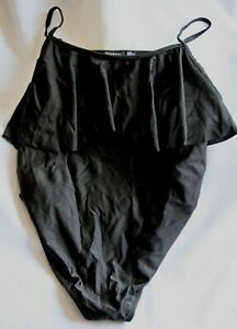 Boohoo black maternity swimming costume - size 14