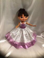 "Mattel Viacom 11.5"" Dora The Explorer Wearing Princess Dress & Bathing Suit Pain"