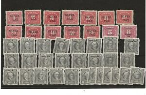 U S Stamps Scott RG series silver tax issues mint collection of 42 items