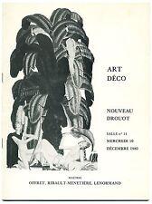 catalogue vente aux enchères Art Déco 10 decembre 1980 Nouveau Drouot Lalique