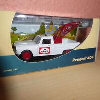 Ixo ?? 1:43 Spur 0 Peugeot 404 Pannenhelfer AVIA mit Kran  in Box-OVP sehr gut