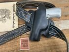 Alfonsos Plain Black Leather Black Stitched OWB Holster For Beretta 84 Sig P230