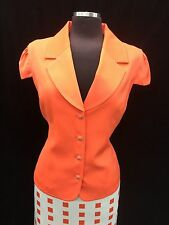 EFFETTO  ITALY SKIRT SUIT/ORANGE/RETAIL$200/SIZE 20/LINED/NEW WITH TAG