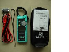 Kyoritsu 2200 AC Digital Clamp Meter AC/DC/Ω 1000A Slim Handy design !Brand New!
