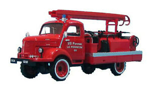 1:43 Hotchkiss PL20 4x4 Lorry Pompiers Le Perreon by Eligor in Red EL101489
