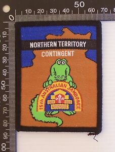 VINTAGE SCOUTS 15th JAMBOREE 1988 WOODHOUSE NORTHERN TERRITORY CONTINGENT BADGE