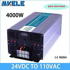 4000W DC24V to AC110V Pure Sine Wave Solar Power Inverter Off Grid LED Display