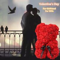 Saint Valentin Jour Cadeau Artificiel Fleurs Rose Ours Plastique Mousse Nounours