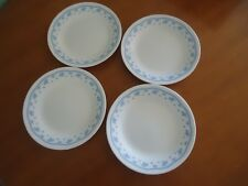4 corelle corning ware morning blue bread & butter plates