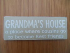 SHABBY Grandma's House targa segno elegante e unico