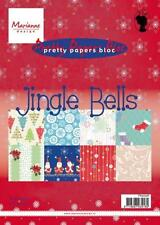 "MARIANNE DESIGNS PRETTY PAPER BLOC - ""JINGLE BELLS"" PK9098 CARDS OR SCRAPBOOK"