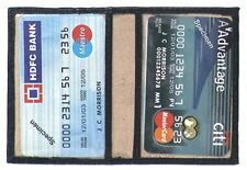 Genuine Leather Lambskin MINI WALLET/ METRO PASS CARD HOLDER BLACK # 8009 CAN