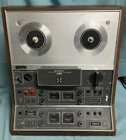 Sony TC-366-4 Open Reel Three Head Tapecorder FRONT & REAR Untested-PARTS/REPAIR