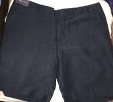Vintage Polo Ralph Lauren Shorts Linen Silk Shorts Navy Blue 2XL XXL
