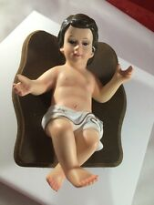 BABY JESUS IN WOOD CRIB 6.75''