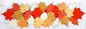 """Table Runner - Autumn Fall Leaves Thanksgiving Decor Design 12"""" x 37"""""""