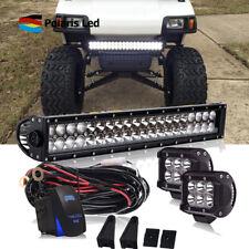 "22 Inch led light bar combo kit + 2X 4"" pods + Wiring FOR Yamaha EZ Go Club Car"