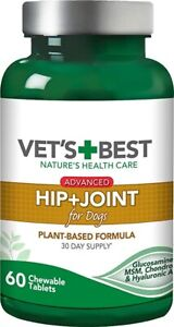 Vets Best Advanced Hip & Joint Tablets For Dogs (60Tabs) Dog Health Supplements