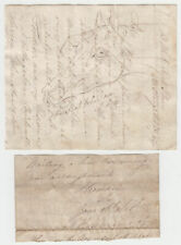 J.F.HERRING Senior, painter, part Autograph Letter with drawing