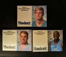 1996 to 1998 North Carolina Tar Heels Basketball Pocket Schedules - Lot of 3