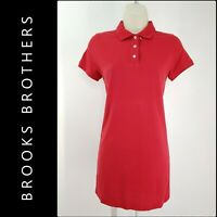 Brooks Brothers Woman Short Sleeve Golf Casual Formal Short Dress Size XS Red
